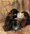 Playtime animal cat Henriette Ronner Knip